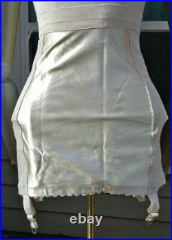 1950s PERMALIFT Satin-Paneled Open-Bottom Girdle NOS NWT Size 26 Small #3714