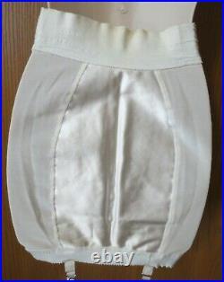 1950s SEARS hi waist corset open bottom garters girdle size 32