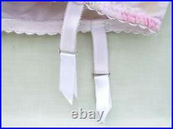 4 Strap Open Bottom Girdle (pink floral) Size 14 Excellent