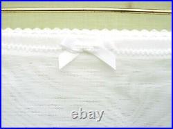 6 Strap Open Bottom Sheer Girdle (white) Size Large Waist 29/30'' by Siesta UK