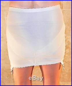 Beyond Rare! Sari Ivory Open Bottom Rubber Girdle With Garters L XL Evc