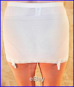 Beyond Rare! Treo Cheers White Open Bottom Girdle With Garters L Evc Nos Nwt