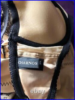 Charnos black sexy sissy hourglass suspender corselette UK 32DD