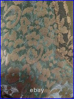 Crown-ette Vintage Green Open Bottom Girdle With Attached Garters Size M
