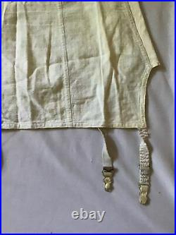GIRDLE Shapewear Open Bottom with Four Garters Size 40 White Vintage Unknown