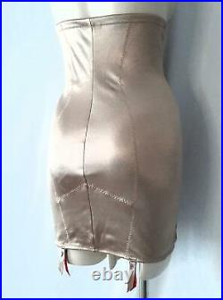 GLOSSY HIGHWAIST Scandale Slimming Lacy OPEN BOTTOM GIRDLE withGRTS XL