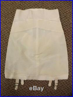 Girly Feminine Sculpting Vtg 50s 60s NEW Open Bottom Girdle with Garter Belts Sz S