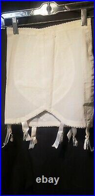 Lot Of Two Vintage Open Bottom Girdles With Garters Sz M