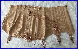 Lot of 3 VTG Open Bottom 1940s Corset Girdle Fan Laced Vintage Girdle w Garters