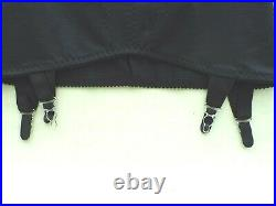 Lovely Open Bottom 4 Strap Girdle (black) Size 31/32'' Excellent Condition