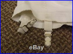 Lovely Vtg 50s 60s NEW Hi Waist Rayon Rubber Open Bottom Garters Girdle S 25/26