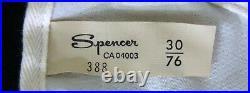 NEW50sSPENCERTight Lacing Under Bust Corset Open Bottom Garters Girdle Sz 30