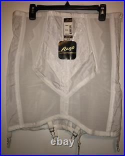 NEW Rago Women's Plus-Size High Waist Open Bottom Girdle WithZipper 6X/42 White