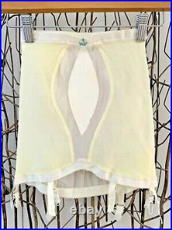 NOS Vintage 1960's PERMA-Lift YELLOW Open Bottom GIRDLE Shaper Sz S/M NOS