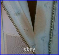 NOS! Vintage 50s BESTFORM Satin Panel Open Bottom Girdle Metal Garter Hooks 30