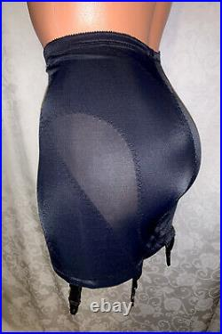NWT Vtg 3X 38 Venus JCPenney Silky Satin Nylon Spandex Open Girdle Garters