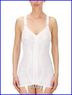 Naturana Fully Lined Open Bottom Corselette with Front Zip & Suspenders 3011