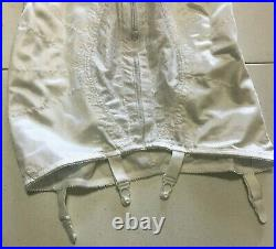 Naturana Open Bottom All in One Girdle Front Zip Corselette Size 38B Style 83244