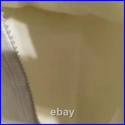 New w Tags! Vintage white Best Form open Bottom girdle with garters & zipper sz 46