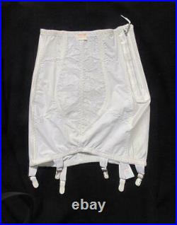 Nos Vintage Young Smoothie White Open Bottom Girdle Side Zip Sm