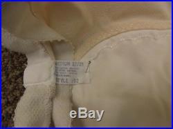 Pillow Tabbed Vtg 50s 60s NEW Open Bottom Shaper Girdle with Nylon Garters M 27/28