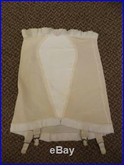 Pillow Tabbed Vtg 50s 60s NEW Open Bottom Shaper Girdle with Nylon Garters S 25/26