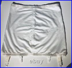 Playtex Fits Beautifully Topless Open Bottom Girdle Suspenders 2XL White W34 H45