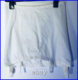 Playtex Girdle 2XL Fits Beautifully Topless Open Bottom Suspenders White W34 H45