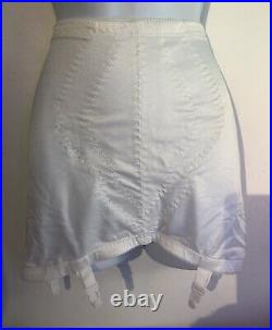Playtex Girdle Size XL Fits Beautifully Open Bottom Suspenders White W32 H43