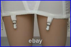 RAGO 349 Open Bottom Girdle 6 Garters Side Zipper SIZE X-Small (24) NOS