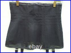 RAGO Open Bottom 4 Strap Girdle (black) Size 32/XL Excellent Condition