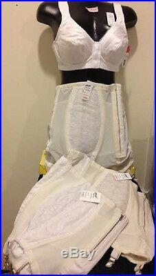 RAGO Zipper Open Bottom Girdle, White 32 34 U Pick Size Style 443,349,369 NEW