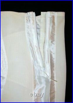 RAREVINTAGE60'sNEWSMOOTHIESATIN PANEL GIRDLE OPEN BOTTOM CORSET GARTERS 36