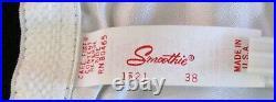 RAREVINTAGE60'sNEWSMOOTHIESATIN PANEL GIRDLE OPEN BOTTOM CORSET GARTERS 38