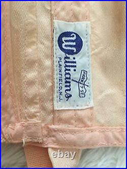 RARE 40's Vtg OPEN BOTTOM GIRDLE CORSET Garters Size 26 28 Peach Williams