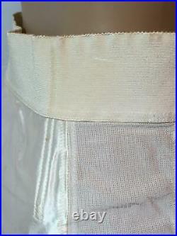 RARE Vtg FLIRTATION WALK Bestform SATIN OPEN BOTTOM GIRDLE Size 33 XXL Garters