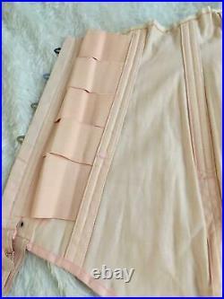 RARE Vtg OPEN BOTTOM GIRDLE CORSET Garters Size 26 Pink P. N. Practical Sarong