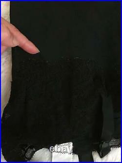 RARE Vtg VANITY FAIR Open Bottom SAMPLE GIRDLE 6 Garters M Lace Satin Coverings