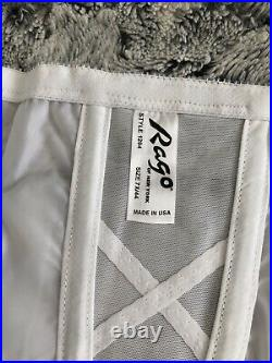 Rago 1294 High Waist Open Bottom Girdle with Garters White 7x/44(110cm)