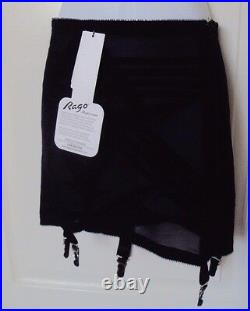 Rago 1361 Open bottom Girdle Black with garters with stockings Firm Shaping