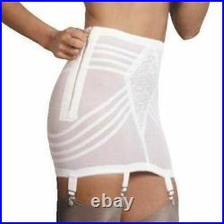 Rago 1361 Open bottom Girdle White with garters with stockings Firm Shaping