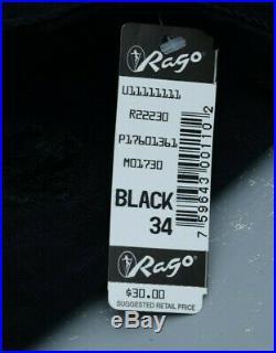 Rago 1361 SIX garter OPEN BOTTOM GIRDLE, OBG, corset White / Black CD L-XL-2XL