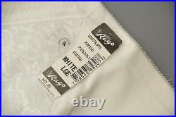 Rago 1365 SIX garter OPEN BOTTOM GIRDLE, OBG, corset, OBG White L-XL-XXXL CD