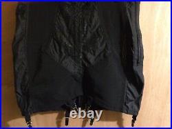 Rago High Waist Open Bottom Girdle with Zipper STYLE 1294 Black SIZE 8XL/46