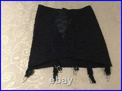 Rago Lacette Open Bottom Girdle 1357 Large with Six Suspenders