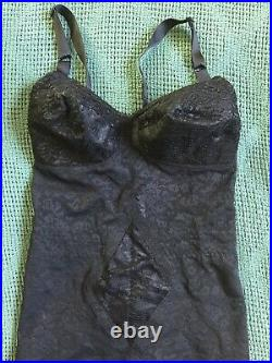 Rago Open Bottom Slip Girdle 38C Black