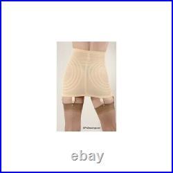 Rago Shapette Open Bottom Beige Garter Girdle Plus Size 36/3XL