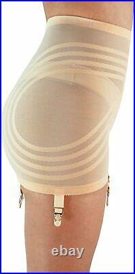 Rago Shapette Open Bottom Beige Garter Girdle Plus Size 42/6XL