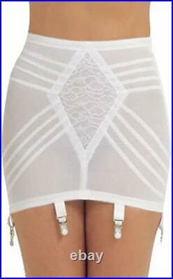 Rago Shapette Open Bottom White Garter Girdle Plus Size 36/3XL