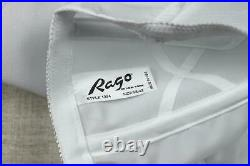 Rago White Open Bottom Girdle 6X / 42 Style 1294 Extra Firm Shaping Garters